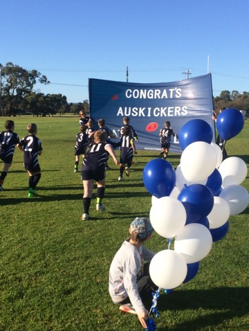 Huntingdale Jr Football Club Auskick banner