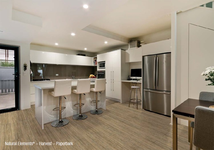 Kitchen with Natural Elements - Harvest - Paperbark Vinyl Flooring