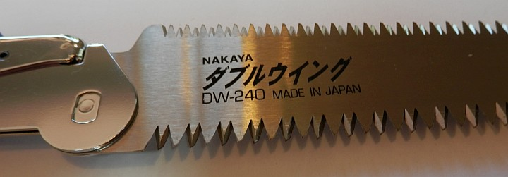 Nakaya Pruning Saw DW-240 close up
