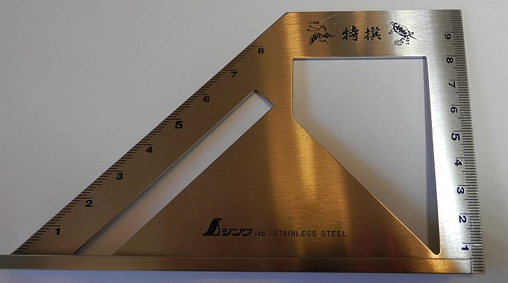 Shinwa Stainless Steel Angle Scribing Square SP 62081 full view