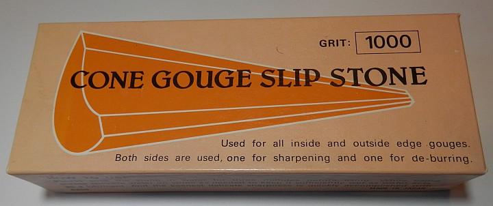 Cone Gouge Slip Stone 1000 Grit box