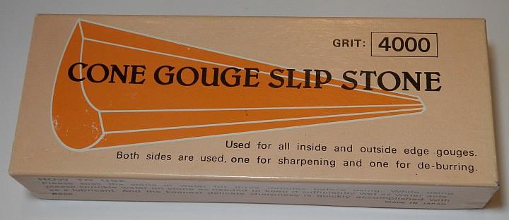 Cone Gouge Slip Stone 4000 Grit box