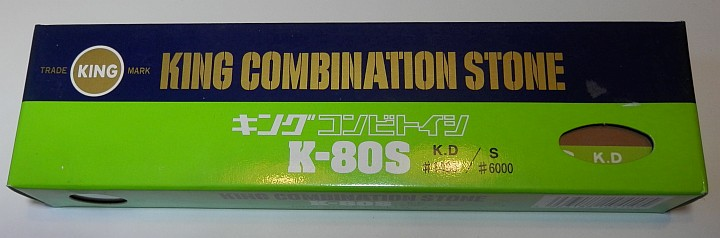 King Combination Stone K-80s 1000 and 6000 grit box