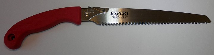 Nakaya Pruning Saw Expert EX-240 red handle full view
