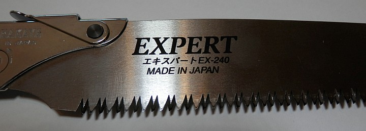 Nakaya Pruning Saw Expert EX-240 black handle close up
