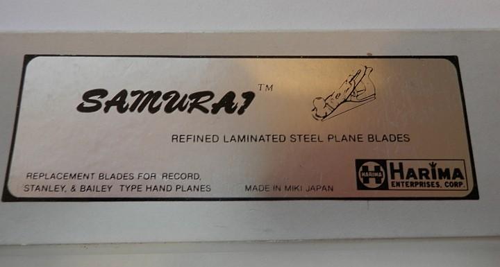 Samurai Steel Plane or Planer blade in package
