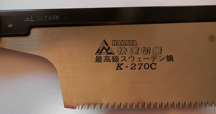 Nakaya K-270C saw close up