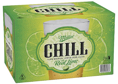 Miller Chill with Lime 24 Bottles
